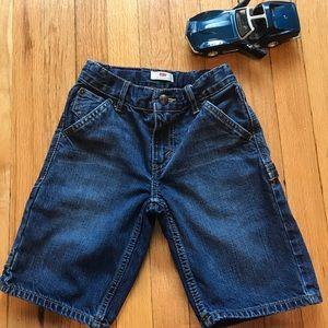 Levi's boy denim blue jean shirt size 7 reg